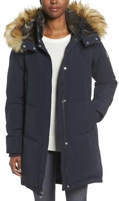 Vince Camuto Faux Fur Hooded Down Coat