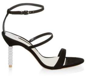 Sophia Webster Rosalind Crystal-Heel Suede Sandals
