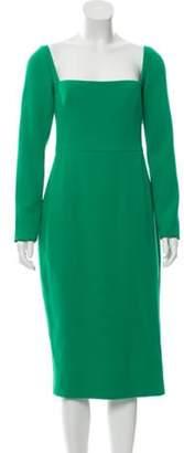 Lela Rose Long Sleeve Sheath Dress Green Long Sleeve Sheath Dress