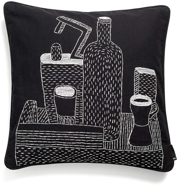 Hay - Embroidered Cushion, 50 x 50 cm, Bottle