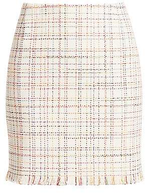 Akris Punto Women's Tweed Mini Skirt