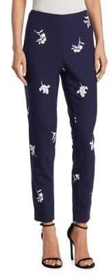 Carolina Herrera Printed Floral Skinny Pants