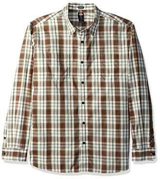 Dickies Men's Big Tall Long Sleeve Relaxed Fit Yarn Dye Plaid Shirt
