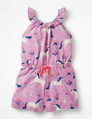 Boden Printed Jersey Playsuit