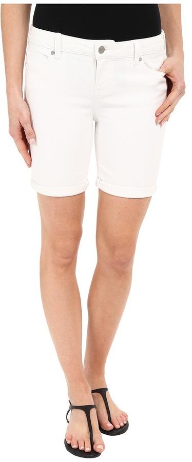 Liverpool Corine Lightweight Denim Shorts in Bright White