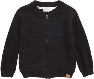 miles baby Front Zip Knit Jacket