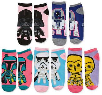 Asstd National Brand 5 Pair Star Wars No Show Socks - Womens