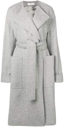 Pringle belted long wrap coat