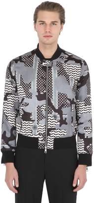Neil Barrett Printed Nylon Bomber Jacket