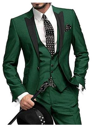 Botong One Button 3 Pieces Wedding Suits Notch Lapel Men Suits Groom Tuxedos