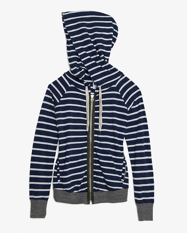 NSF Striped Zip Up Hoodie