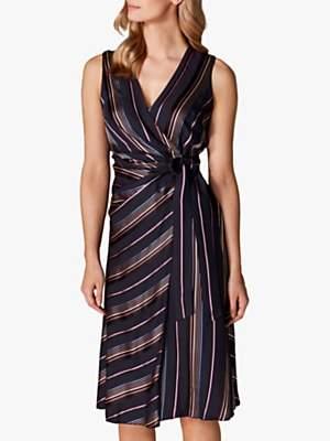 572feb2808 Karen Millen Tie Waist Midi Dress, Multi