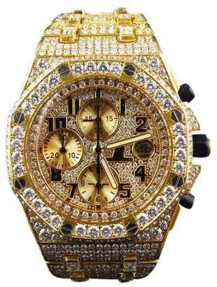Audemars Piguet Royal Oak Offshore 18k Yellow Gold with 38 Ct Diamond 42 mm Mens Watch $88,000 thestylecure.com
