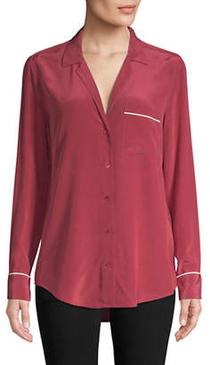 Equipment Keira Contrast Silk Shirt