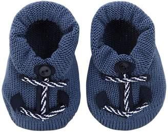 La Perla Cotton Knit Socks W/ Anchor Appliqués