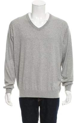 Peter Millar Rib Knit V-Neck Sweater