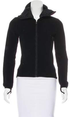 Prada Sport Hooded Zip-Up Sweater