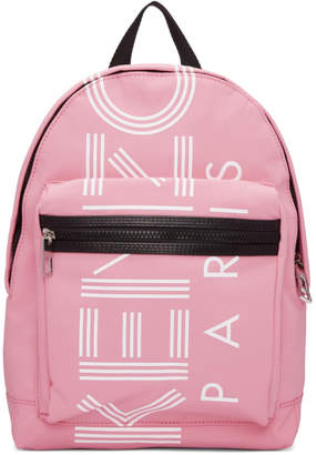 Kenzo Pink Small Logo Backpack
