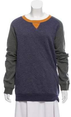 Dries Van Noten Colorblock Crew Neck Sweatshirt