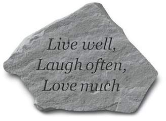 KayBerryInc Live Well, Laugh Often, Love Much Stepping Stone