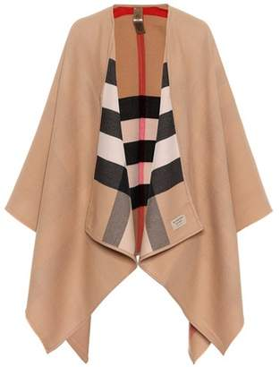 Burberry Reversible merino wool poncho