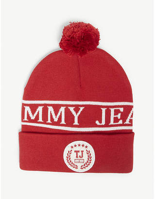 Tommy Jeans College cotton-blend pompom beanie