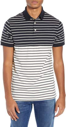 French Connection Tim Slim Fit Stripe Polo