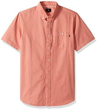 Obey Men's Keble Denim Short Sleeve Button up Woven
