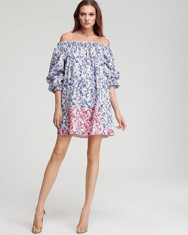 D & G Off-the-Shoulder Floral Printed Dress
