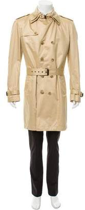 Dolce & Gabbana Double Breasted Deconstructed Trench Coat