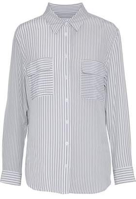 Equipment Signature Striped Washed-Silk Shirt