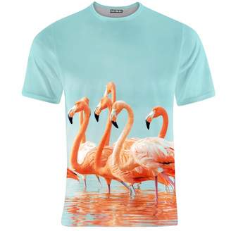 Flamingos Aloha From Deer T-shirt