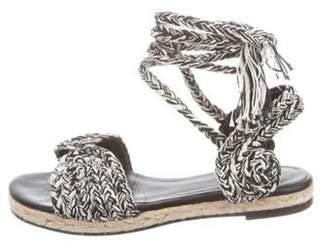 Antolina Woven Wrap-Around Sandals White Antolina Woven Wrap-Around Sandals
