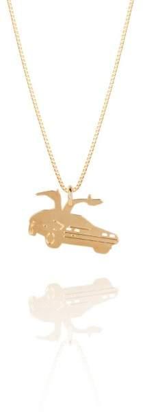 Styleserver DE Malaika Raiss Halskette DeLorean Open Doors vergoldet