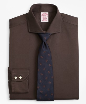 Brooks Brothers Madison Classic-Fit Dress Shirt, Textured Micro-Check