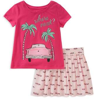 Kate Spade Girls' Where Next Road Trip Tee & Skirt Set - Baby