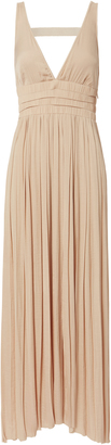 Elizabeth and James Ellison Pleated Maxi Dress $425 thestylecure.com