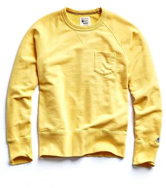 Todd Snyder + Champion Terry Pocket Sweatshirt in Yellow