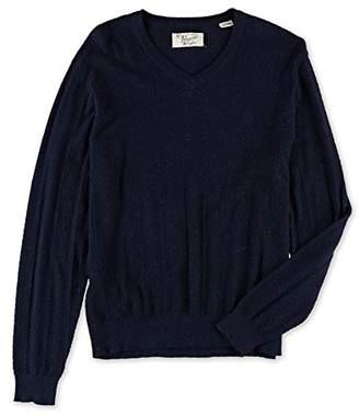 Original Penguin Men's Speckle Herringbone V-Neck Sweater