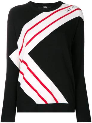 Karl Lagerfeld K-striped jumper