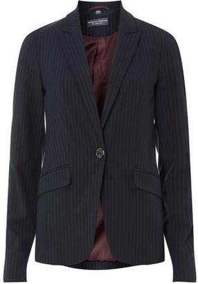 Dorothy Perkins Womens **Tall Navy Pinstriped Jacket