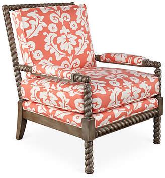 Dana Gibson Parthie Chair - Coral