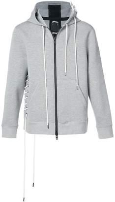 Craig Green lace detail zip hoodie
