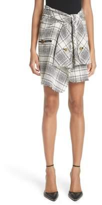 Alexander Wang Twist Front Detail Tweed Skirt