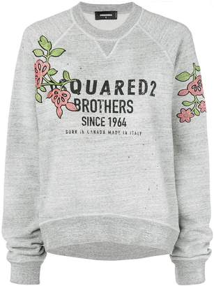 DSQUARED2 flower patch logo sweatshirt