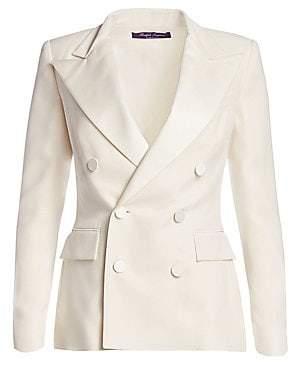 Ralph Lauren Women's Camden Silk Tuxedo Jacket