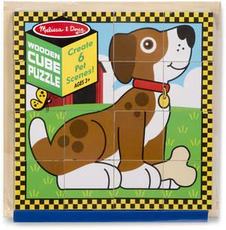 Melissa & Doug Pet Wooden Cube Puzzle
