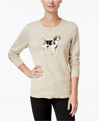 Charter Club Dog Graphic Sweater, Only at Macy's $69.50 thestylecure.com