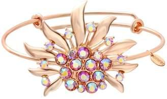 SENFAI Chrysanthemum Bangle Bracelets Flower Girl Bracelet for Bridesmaid Gifts, Spring Wedding (rose gold)