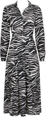 Wallis Monochrome Zebra Print Split Shirt Dress